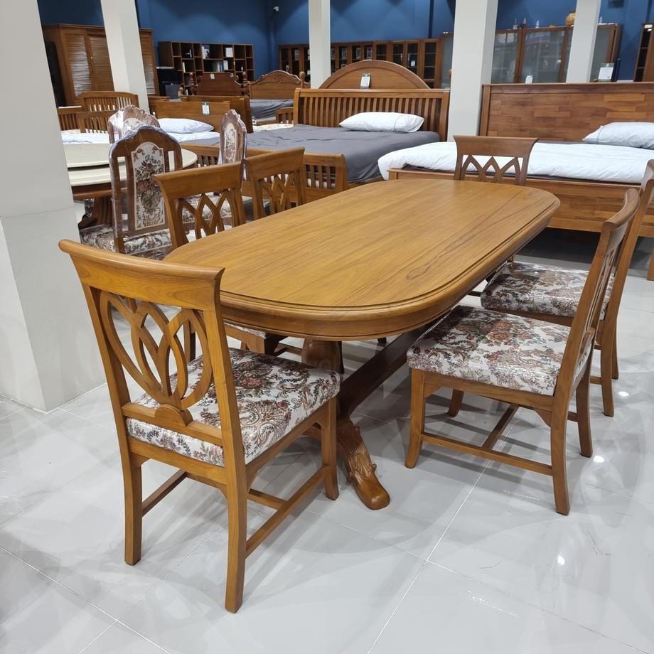 ชุดโต๊ะอาหาร สำหรับ 6ที่นั่ง