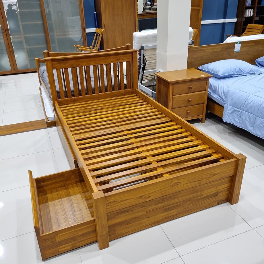 เตียงนอน 3.5ฟุต แบบ มี ลิ้นชัก