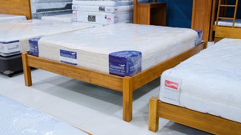 ฐานเตียงไม้สักแท้
